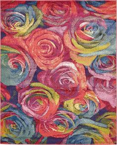 Pink Fresco Area Rug