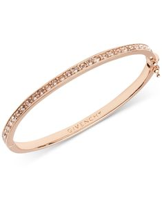 Givenchy's polished and sleek bangle bracelet features silk Swarovski elements. Givenchy Jewelry, Rose Gold Jewelry, Hand Jewelry, Gold Jewellery, Boho Jewelry, Custom Jewelry, Jewelry Design, Bangle Bracelets, Stud Earrings