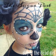 Day of the Dead Girl Costume for kids. Had so much fun doing this for my daughter.
