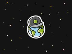 Cool Earth sticker by Dick Blacker