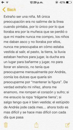 Mood Quotes, True Quotes, Sad Texts, Love Phrases, Tumblr Quotes, Sad Love, Spanish Quotes, Love Messages, Beautiful Words