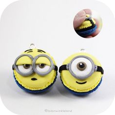 Minion macarons!! #polymerclay #polymerclaycharms #claycraft #cutecharms #claycharms #minions #madebyme
