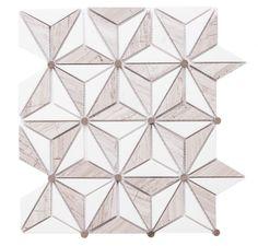 Santorini x Marble Mosaic Tile Marble Mosaic, Mosaic Tiles, Wall Tiles, Mosaics, Master Bedroom Design, French Country Decorating, Star Designs, Star Shape, Santorini