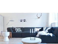 Our livingroom woonkamer grey grijs herfst black and white