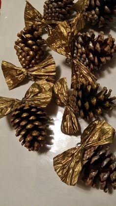 Pinecone Christmas Tree Decorations