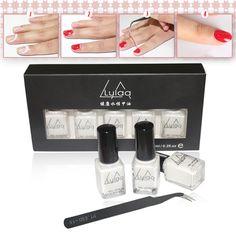 New LULAA 5PC Nail Art Tape Latex Tape & Finger Skin Protected Liquid Palisade Easy Clean Base Coat Care Nail Gel