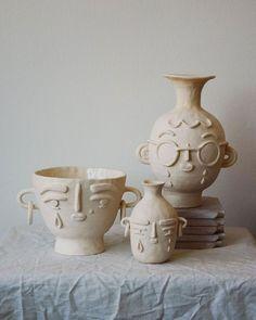 A few ceramic artists whose work I'm loving right now · Miss Moss - ceramic art - Ceramic Clay, Ceramic Pottery, Pottery Art, Pottery Gifts, Ceramic Pots, Diy Clay, Clay Crafts, Diy Y Manualidades, Kitchen Decor Themes