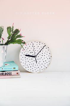 #DIY Dotted #Clock #Tutorial
