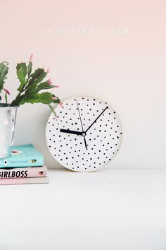 DIY Spotted Clock tutorial