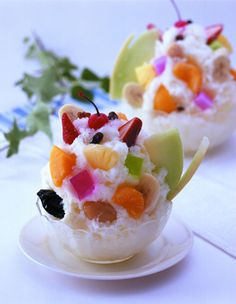 Kakigori Shirokuma- Japanese shaved ice dessert flavored with syrup and condensed milk! Yummy!