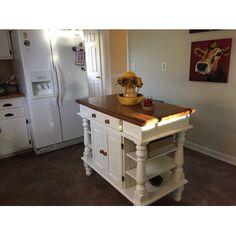 Perfect Home Styles Americana Kitchen Island White