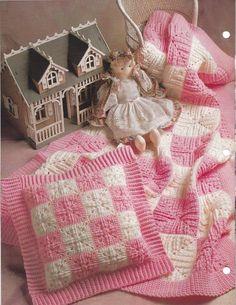 Quadriculada Colchas Crochê Coberta Acolchoada itens decorativos Criações -  /      Checkered Quilts Crochet Quilt Knacks Creations -