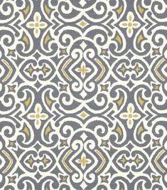 Upholstery Fabric-Robert Allen New Damask Greystone