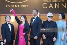 Jury members Park Chan-wook, Agnes Jaoui and Will Smith, President of the jury Pedro Almodovar and jury member Fan Bingbing attend the 'Ismael's Ghosts (Les Fantomes d'Ismael)' screening and Opening Gala during the 70th annual Cannes Film Festival at Palais des Festivals on May 17, 2017 in Cannes, France.