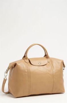 Longchamp Le Pliage Cuir Leather Handbag in Natural Wish 51ed4b8f2643e