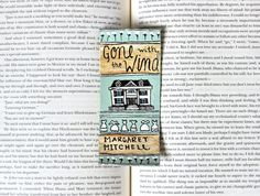 Hand Painted Bookmark // Gone With the Wind by PeelsandPosies