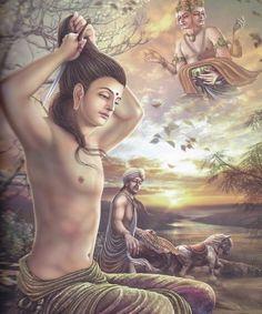 Beautiful Painting Shakyamuni Buddha - Artist Kritsana Suriyakarn