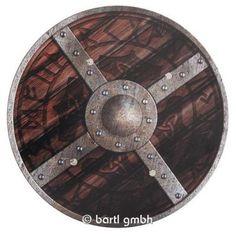 Bartl, Viking Shield Klasik, sırtında deri kayışlar ile tahtadan yapılmış yuvarlak kalkan | 111260 / EAN: 4260379537262