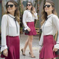 """""""✨  ✨ #blusa #blouse #laço #gravatinha  Ref. Blusa Gucci.  Cores: off, rosê…"""