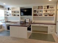30 Inspirierende Double Desk Home Office-Design-Ideen office ideas 30 Inspir . Home Office Space, Home Office Desks, Home Office Furniture, Office Decor, Office Ideas, Office Setup, Office Organization, Double Desk Office, Ikea Office
