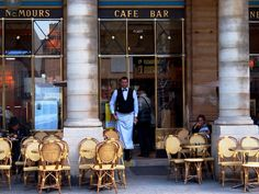 paris, cafe nemours... paris, the palais royal...  http://vickiarcher.com/2012/12/paris-a-wander-around-the-first/#