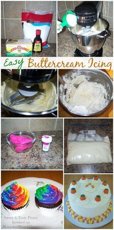 This delicious & easy buttercream icing recipe is by Melissa of Sweet & Tasty Pastry. If there's one thing I can't turn down, it's buttercream icing!
