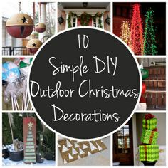 Easy (and inexpensive!) ways to decorate your yard or porch for the holidays
