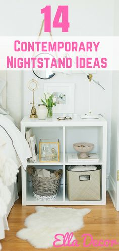 The Best 14 Contemporary Nightstand Ideas. Simple and yet innovative. Learn these 14 amazing contemporary nightstand ideas http://elladecor.com/14-creative-contemporary-nightstands-ideas/