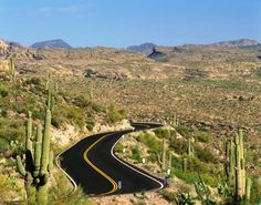 Apache Trail aka SR 88. Former stagecoach trail that ran thru the Superstition Mtns. Winds steeply thru 40 mi. of rugged desert mountains, part of it unpaved; there are steep cliff drops & few safety barriers. Drive w/caution