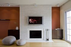 "fireplace and wool felt ""stones"""