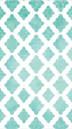 """Blue Quatrefoil"", phone wallpaper"