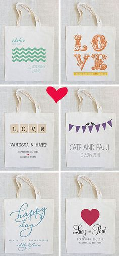 Totes from The Wedding Chicks by lanalou style, via Flickr