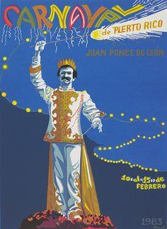 Carnaval de Puerto Rico, 1983. Poster.