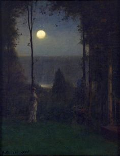 George Inness, Moonlight, 1885, oil on canvas