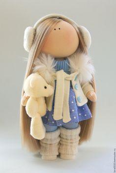 Купить Джейн - кукла ручной работы, кукла в подарок, Кукольный трикотаж, хлопок, трикотаж