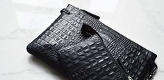 STELLA & PERFECT WALLET - BLACK CROC.