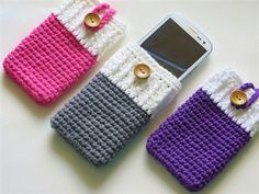 Mobile Phone Cozy, Can be Made for any Mobile - Media - Crochet Me