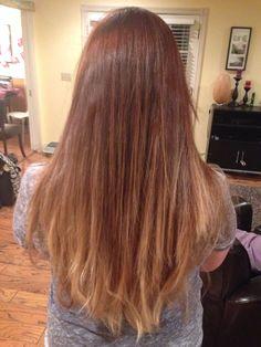 Added dark copper brown base and lightened ends to golden blonde