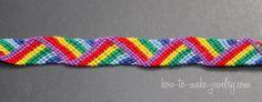 Zig Zag  - Friendship Bracelet - embroidery floss bracelet - knotted bracelet