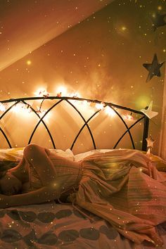 the stars lean down to kiss you: this photo is a dream, i think i may put twinkle lights in my bedroom now