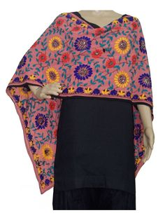 Super Georgette Stole Handembroidery SuperGeorgette Stole with Traditional Embroidery Work  Stole Length 2.25 Meter, Width 0.5 Meter  Wash Care Dry Clean Shop Now : http://www.jankiphulkari.com/light-coral-super-georgette-stole-jsgs1199?___SID=U