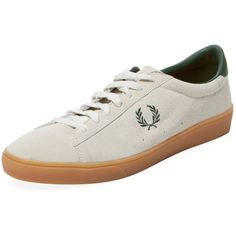 Fred Perry Men's Spencer Sneaker - White - Size 10 ($49) ❤ liked on Polyvore featuring men's fashion, men's shoes, men's sneakers, white, mens white leather shoes, men's low top shoes, mens leather sneakers, men's low top sneakers and fred perry mens shoes