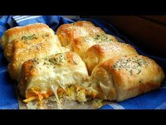Chicken Cheese Dinner Rolls Delicious! - YouTube
