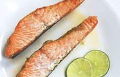 Baked Salmon with Lime Butter