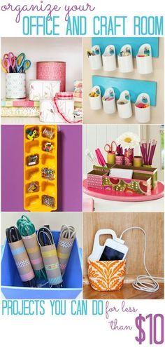 Office and Craft Space Organization - All Cheap Crafts #DIY Easy DIY Ideas, Craft Ideas