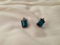 vintage topaz earrings