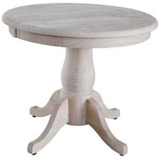 International Concepts Round Pedestal Table Wood