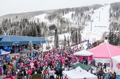 Pink Vail Biggest Ski Day to Conquer Cancer, Support Shaw Center Internal Medicine, Cancer Support, Perfect Pink, Ski And Snowboard, World's Biggest, Medical Center, How To Raise Money, Worlds Largest, Skiing