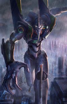 Evangelion - Unit 01 by Pierre Loyvet *