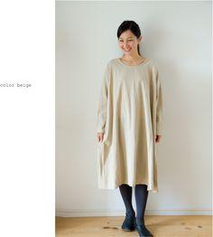 シンプルコットンワンピース/【メール便不可】(NP0918)((レディースファッション